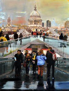 London_millenium Footbridge - olio su tela - 70x100 - 2014