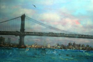 New York bridge - olio su tela - 115x90 - 2014