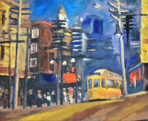 San Francisco (Omaggio A Hopper) - olio su tela - 60x50 - 2016