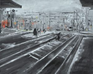 The station - olio su tela - 50x40 - 2014