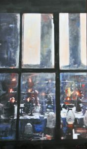 Il vetro opaco - olio su tela - 40x60 -2016