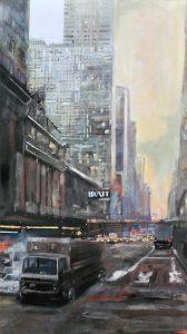 42nd street - olio su tela - 50x100 - 2016