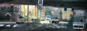 Santander - olio su tela - 65x25 - 2016